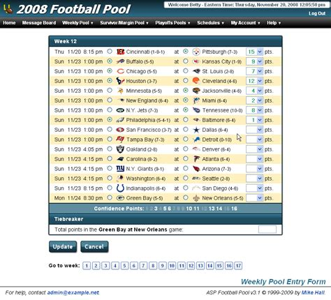Are Office Football Pools In New York Office Football Pool Hosting Pro And College Football