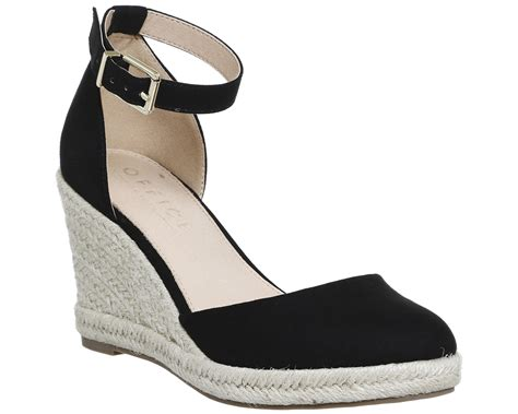 womens office marsha closed toe espadrille wedges black