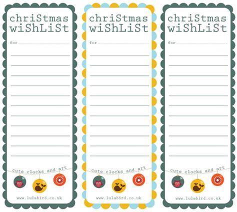 Christmas Wish List Template Free Printable Cute Christmas Wish List Template Free Printable