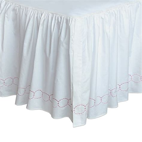 bed bath and beyond bed skirts dena home pretty in pink bed skirt bed bath beyond