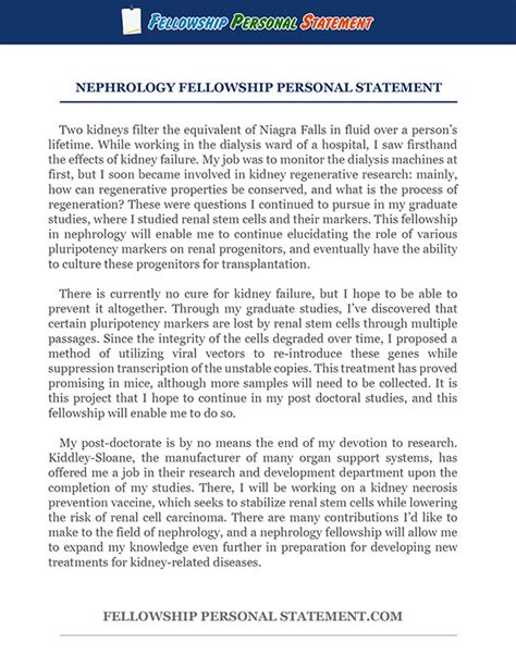 exceptional fellowship personal statement service fellowship personal statement