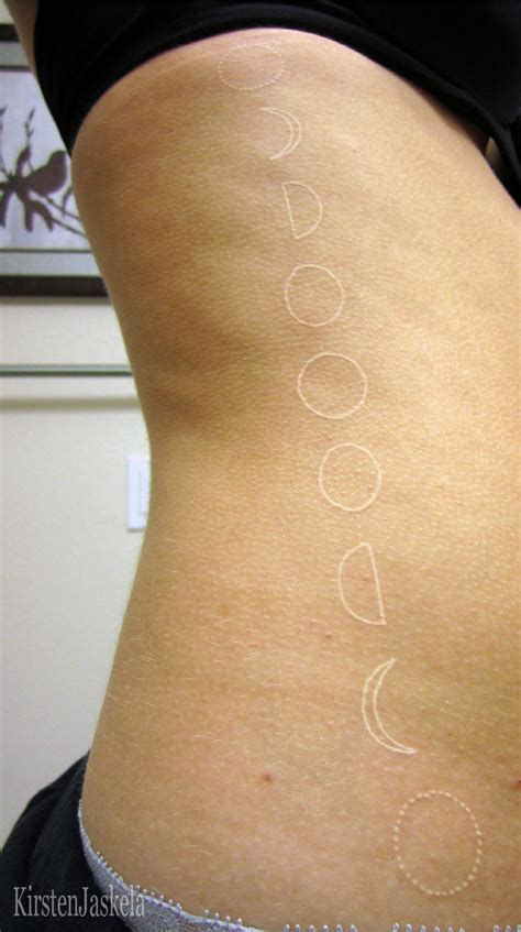 phases of moon tattoo moon phase moon phases and white ink on