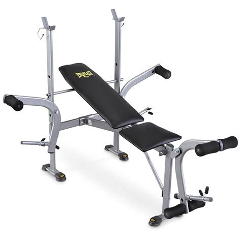 Everlast Bench Press everlast 174 standard weight bench with leg press 143634 at sportsman s guide