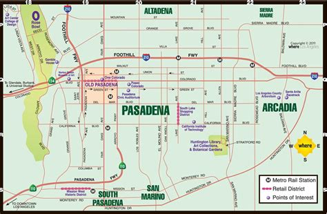 california map pasadena pasadena map