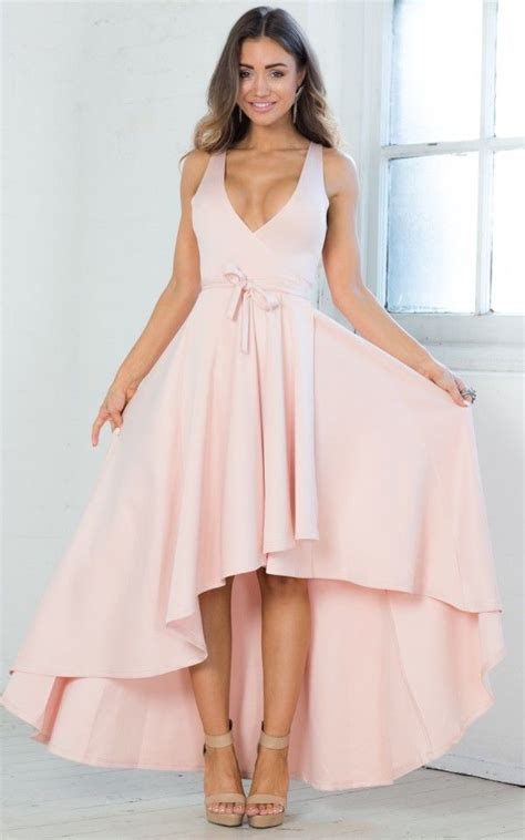 blush color dresses blush colored high low feminine dress by showpo ustrendy