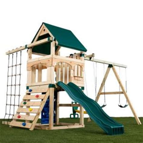 home depot swing set kits home depot timber bilt matterhorn no cut playset play