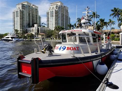 metalcraft fire boat fort lauderdale places new high tech metalcraft marine