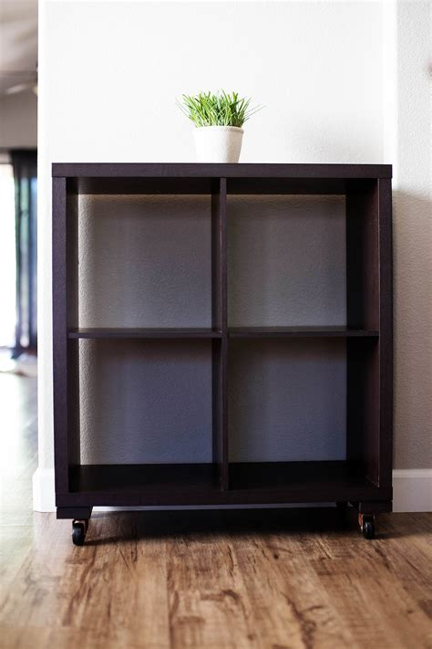diy shelf to cart makeover