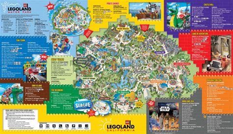 printable map legoland windsor behind the thrills legoland california
