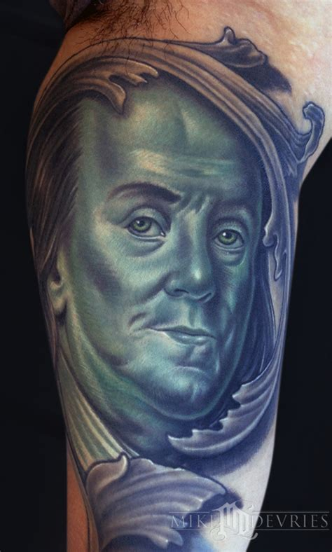 benjamin franklin tattoos ben franklin by mike devries tattoonow