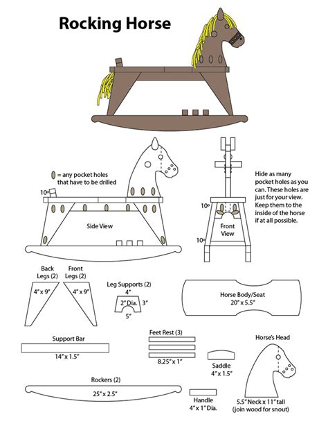 plans  rocking horse easy diy woodworking projects
