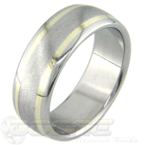 boone titanium rings gold accents with scratch