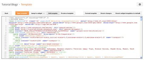 cara merubah template edit html di blogspot terbaru 2013