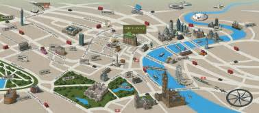 tourist attractions in map landmarks birds eye view top tourist attractions