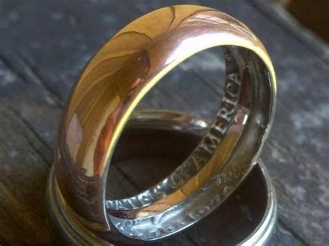 how to make a ring with a coin in home amazing