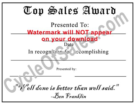 sales award certificate bing images