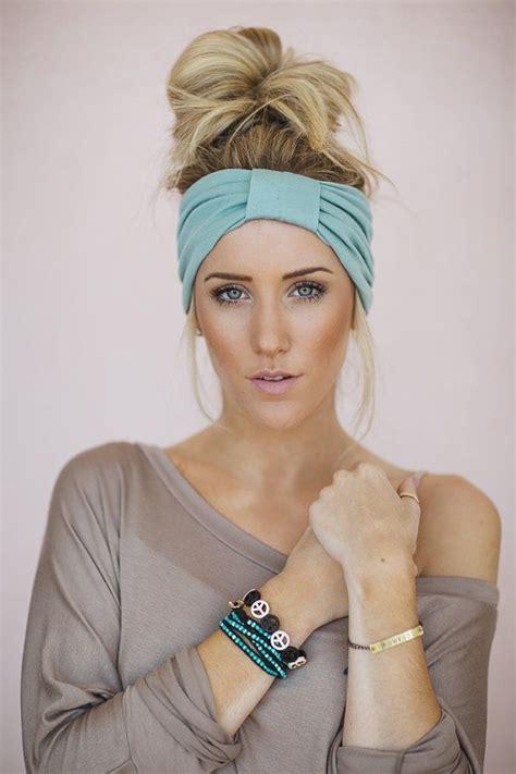 hairstyles for making head look wider mint green turband wide headband sparrow headband in mint
