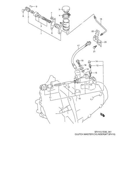 Master Kopling Atas Cylinder Assy Clutch Suzuki 1 clutch master cylinder for suzuki kei sf413 europe sales region 3814389 328133