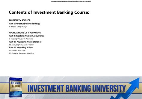 Part Time Mba Investment Banking by Investment Banking Course Investment Banking