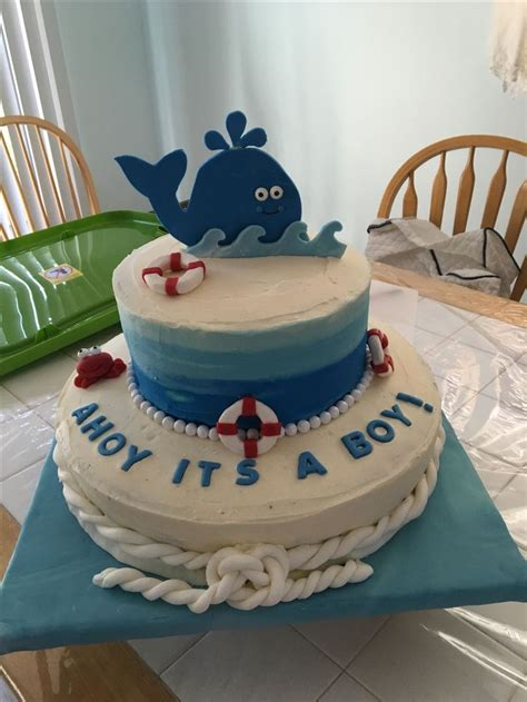 Ahoy Baby Boy Baby Shower by Best 25 Nautical Baby Shower Cakes Ideas On
