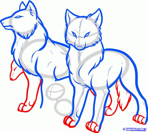 how to a wolf how to draw a wolf pack pack of wolves step by step forest animals animals free