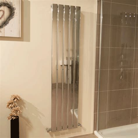 better bathrooms radiators vega 1600 x 375mm single flat panel chrome vertical radiator