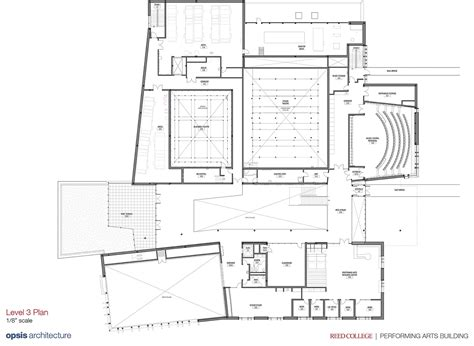 3 level floor plans reed college performing arts building