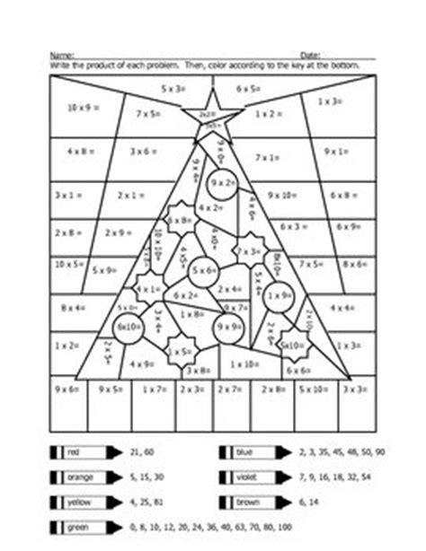 math coloring worksheets multiplication pdf christmas tree multiplication coloring sheet