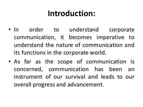 Mba In Communication Management Scope by Mba I Ecls U 3 Corporate Communication
