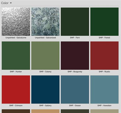 metal siding colors color visualizer central states mfg inc