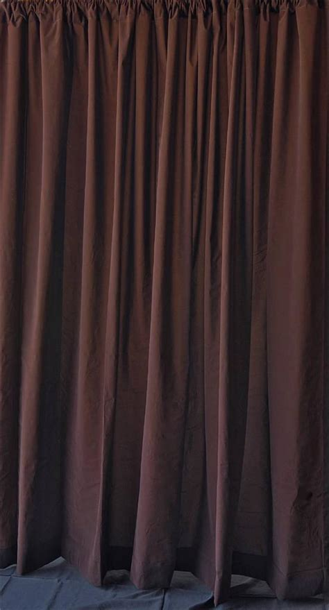 backdrop drapery solid brown 96 quot h velvet curtain long panel theater stage