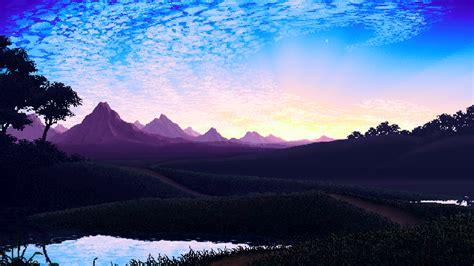 wallpaper desktop pixel pixel landscape wallpaper and background image 1920x1079
