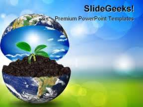 earth in plant environment powerpoint templates and