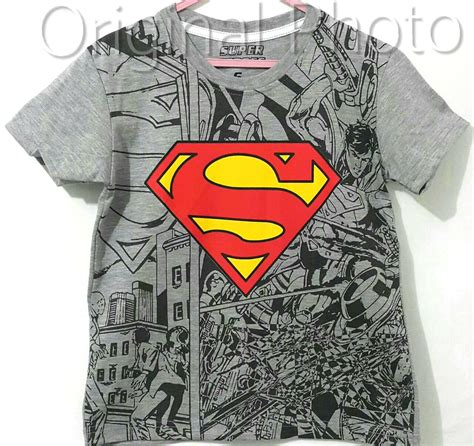 Kaos Marvel Comic by Kaos Comic Superman Abu 1 6 Marvel Grosir Eceran Baju