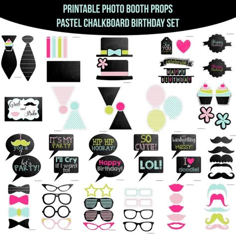 breakfast at t s printable photo booth props 28 best images about chalkboard birthday on pinterest