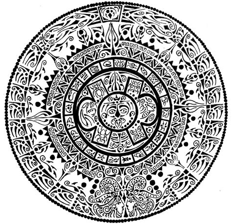 aztec calendar by curvy tribal on deviantart
