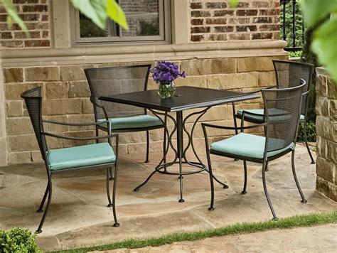 Iron Patio Dining Set - woodard amelie wrought iron dining set gvbds