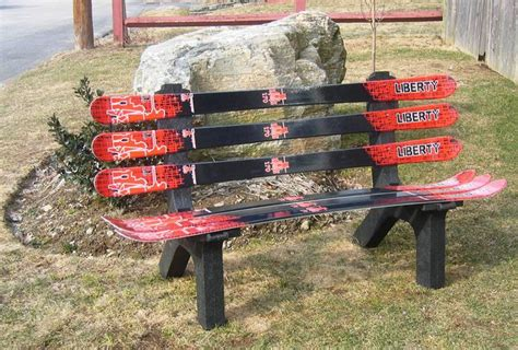 ski bench ski bench golf ski art pinterest