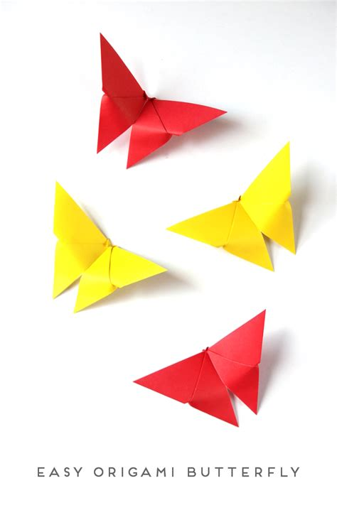 Simple Origami - easy origami butterfly craftbnb