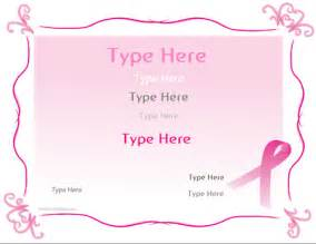 Breast Cancer Template by Blank Certificates Breast Cancer Awareness Certificate