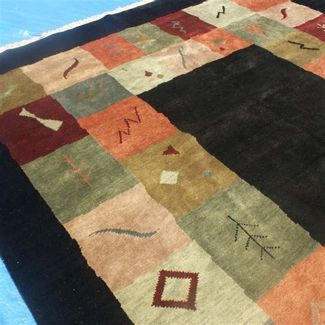 woven indian rugs 11ft x 9ft genuine woven wool indian rug ebay