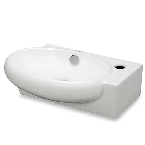 buy plastic kitchen sinks from bed bath beyond buy elanti ec9888 l porcelain white wall mounted oval left