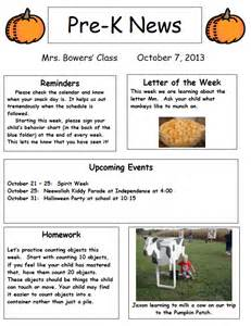 mrs bowers prek newsletter images frompo