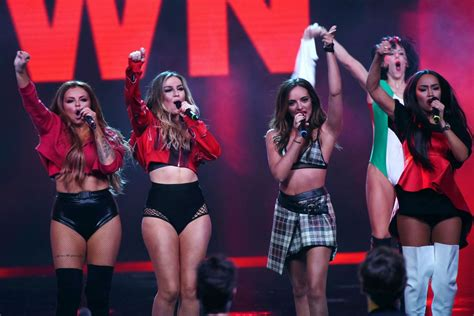 little mix show little mix performing on x factor tv show in milan