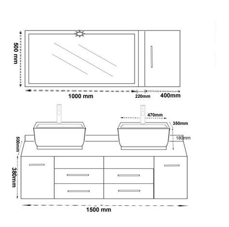 hauteur d un meuble de cuisine hauteur meuble salle de bain