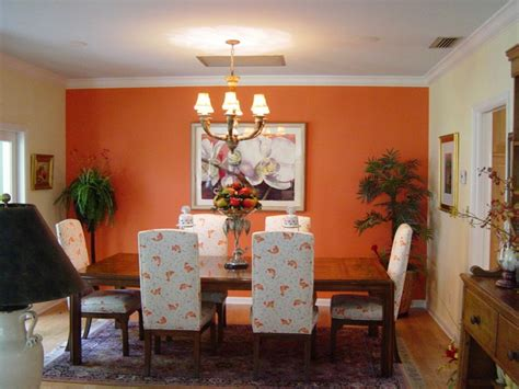 dining room wall color ideas 60 wall color ideas in orange naturinspirierte design for all premises fresh design pedia