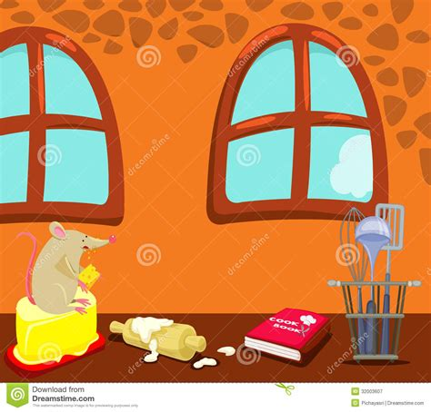 Free Kitchen Design Program by Cartoon Mouse Eating In The Kitchen Royalty Free Stock