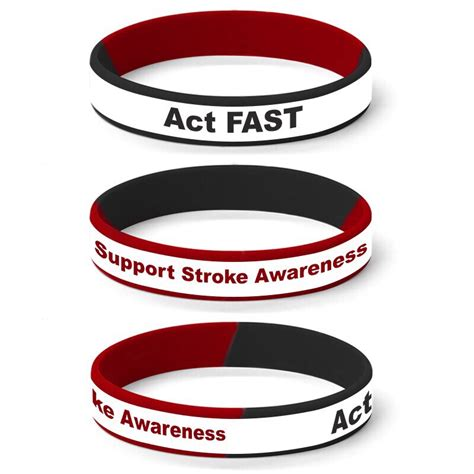 stroke awareness color silicone wristbands for stroke awareness design