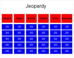 jeopardy powerpoint 2007 template jeopardy powerpoint template 8 free sles exles