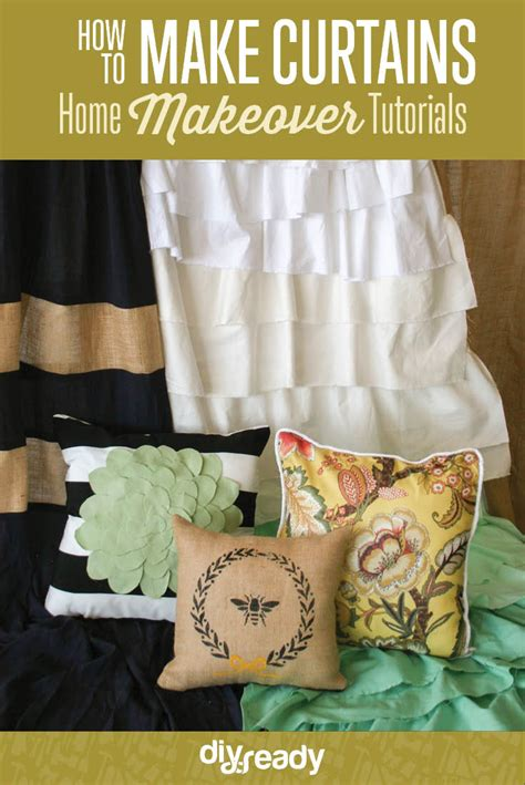 how to make curtains how to make curtains and pillows home makeover tutorial